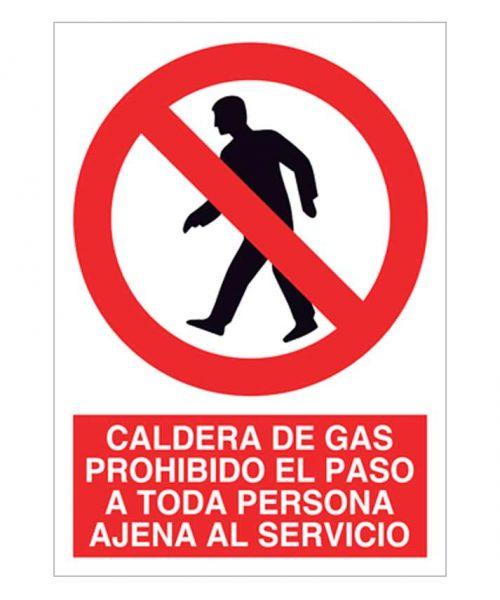 Caldera de gas prohibido el paso