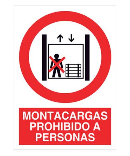 Montacargas prohibido a personas