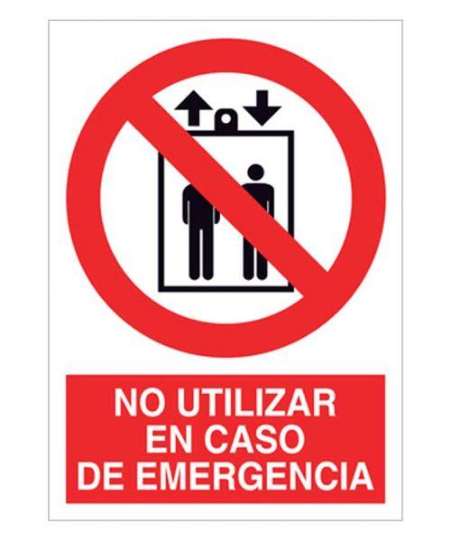 No utilizar en caso de emergencia ascensor