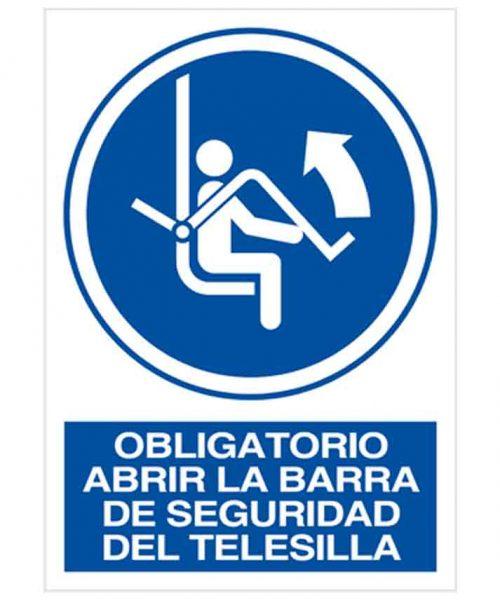 Obligatorio abrir la barra de seguridad del telesilla