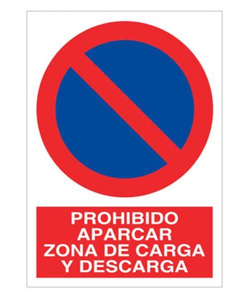 Prohibido aparcar zona de carga y descarga