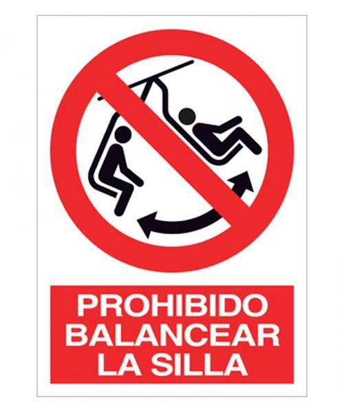 Prohibido balancear la silla