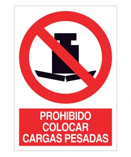 Prohibido colocar cargas pesadas