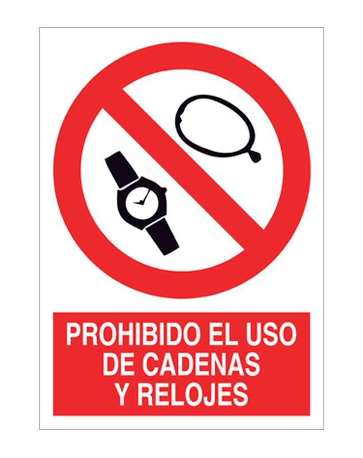 Prohibido el uso de cadenas y relojes
