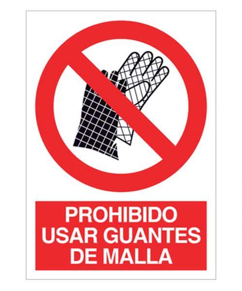 Prohibido el uso de guantes de malla
