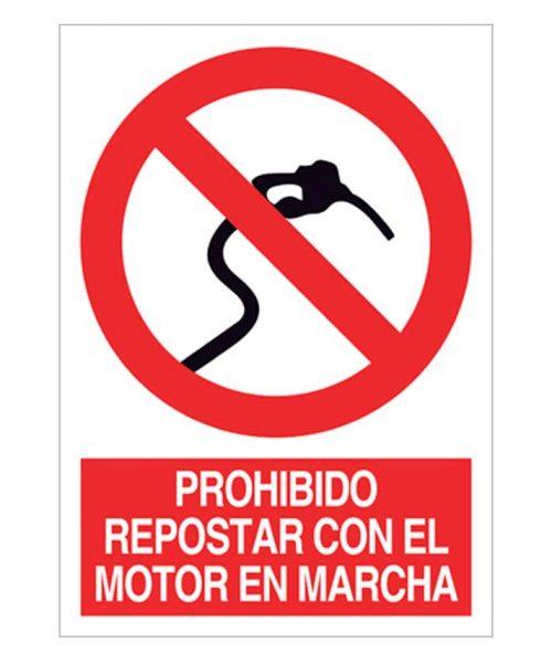 Prohibido repostar con el motor en marcha