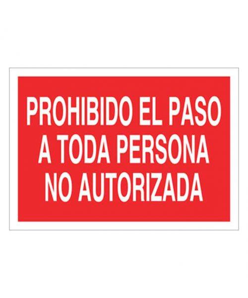Señal de prohibicion p41t