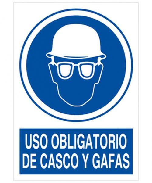 Uso obligatorio de casco y gafas