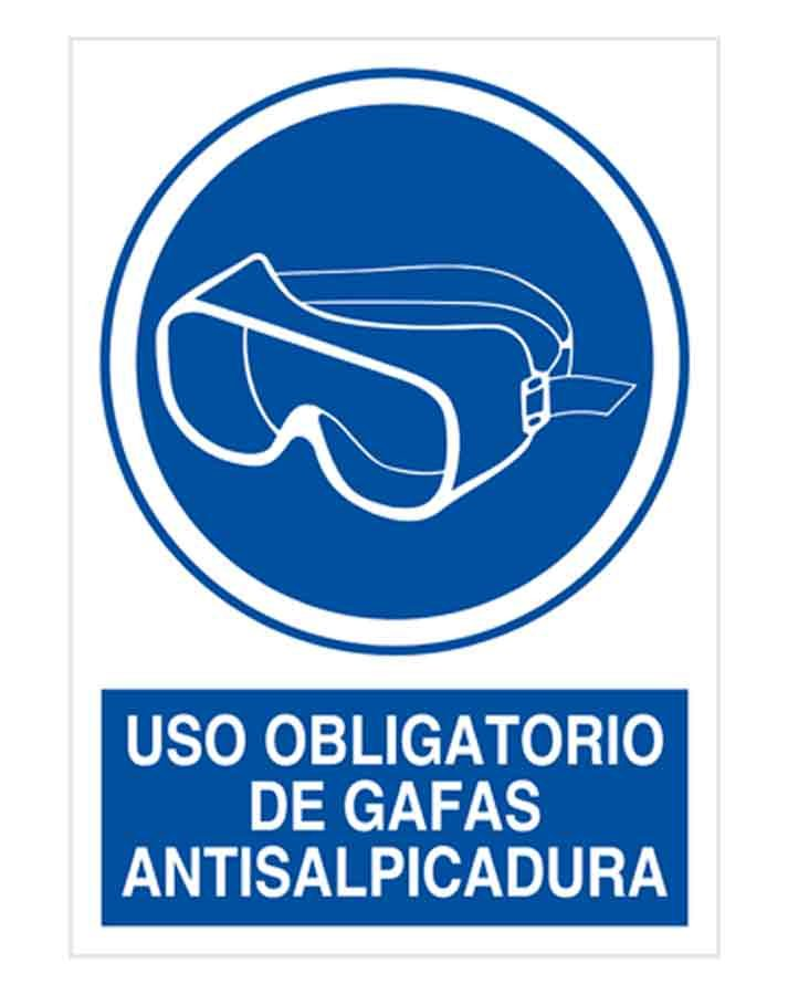 Uso obligatorio de gafas antisalpicadura