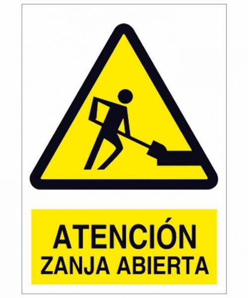 Atención zanja abierta