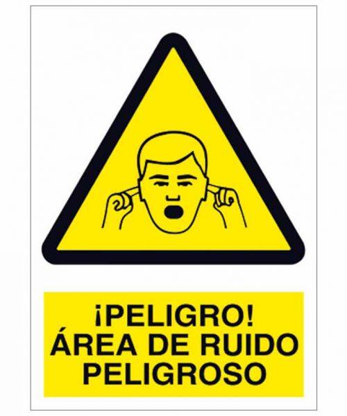 Peligro área de ruido peligroso