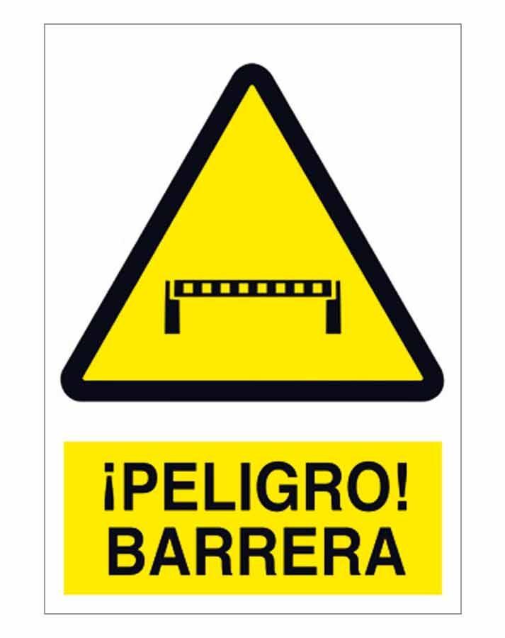 Peligro barrera