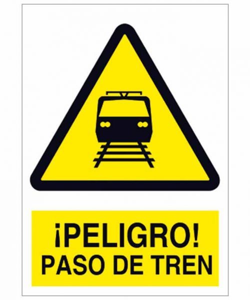 Peligro paso de tren