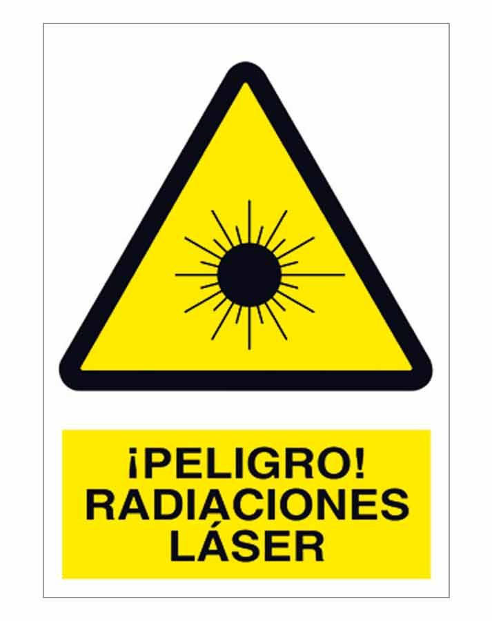 Peligro radiaciones laser