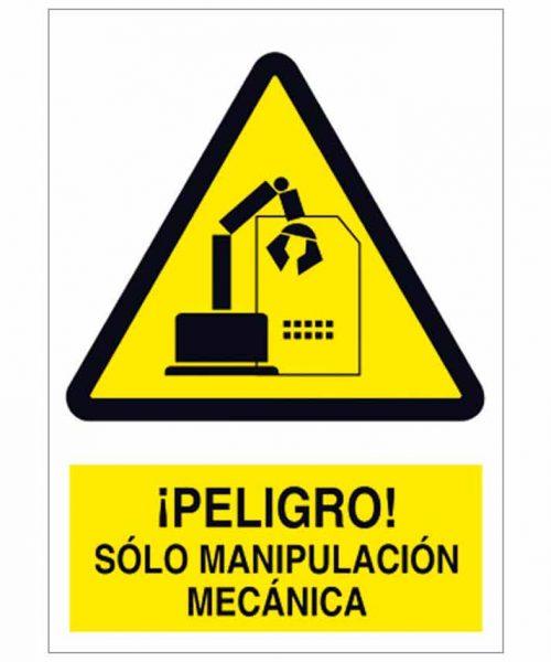 Peligro sólo manipulación mecánica