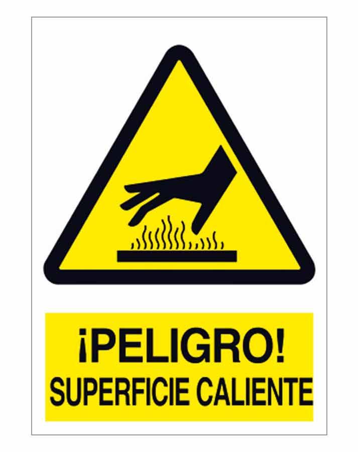 Peligro superficie caliente señal advertencia para comprar