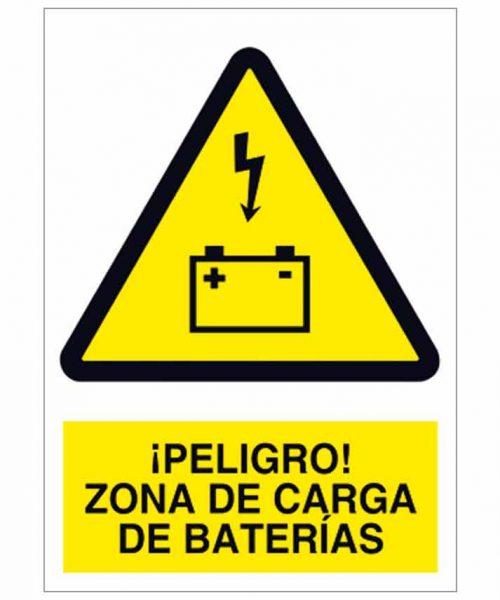 Peligro zona de carga de baterías