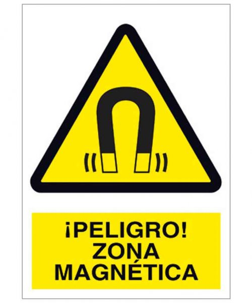 Peligro zona magnética