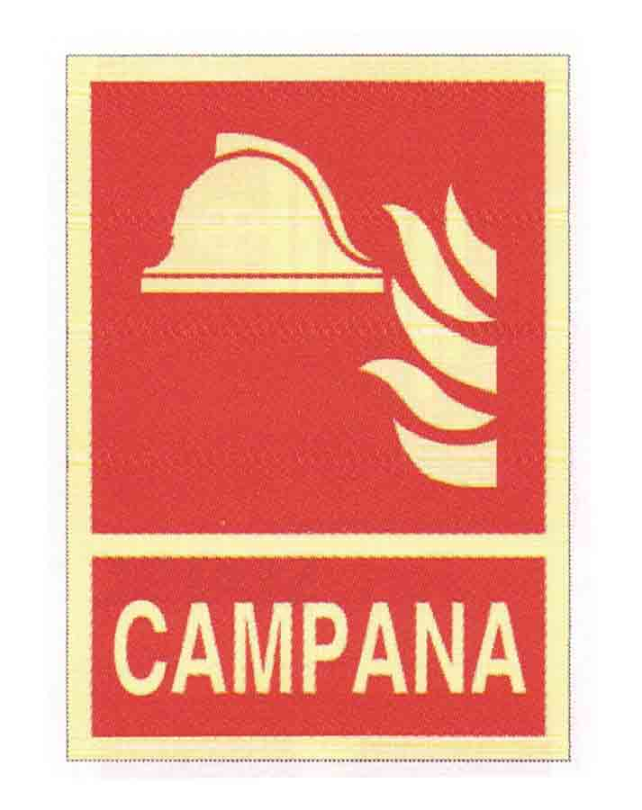 Campana es una señal homologada luminiscente de clase b