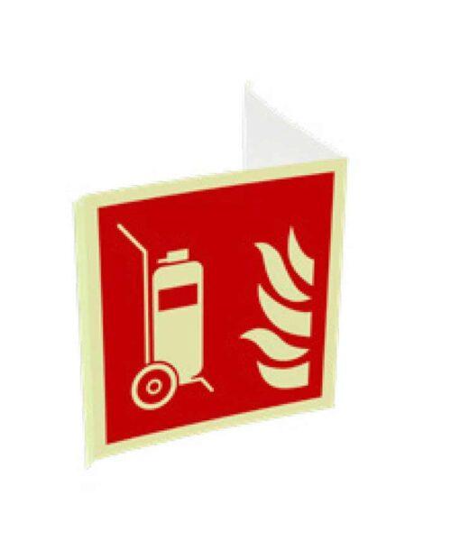 Cartel homologado carro extintor