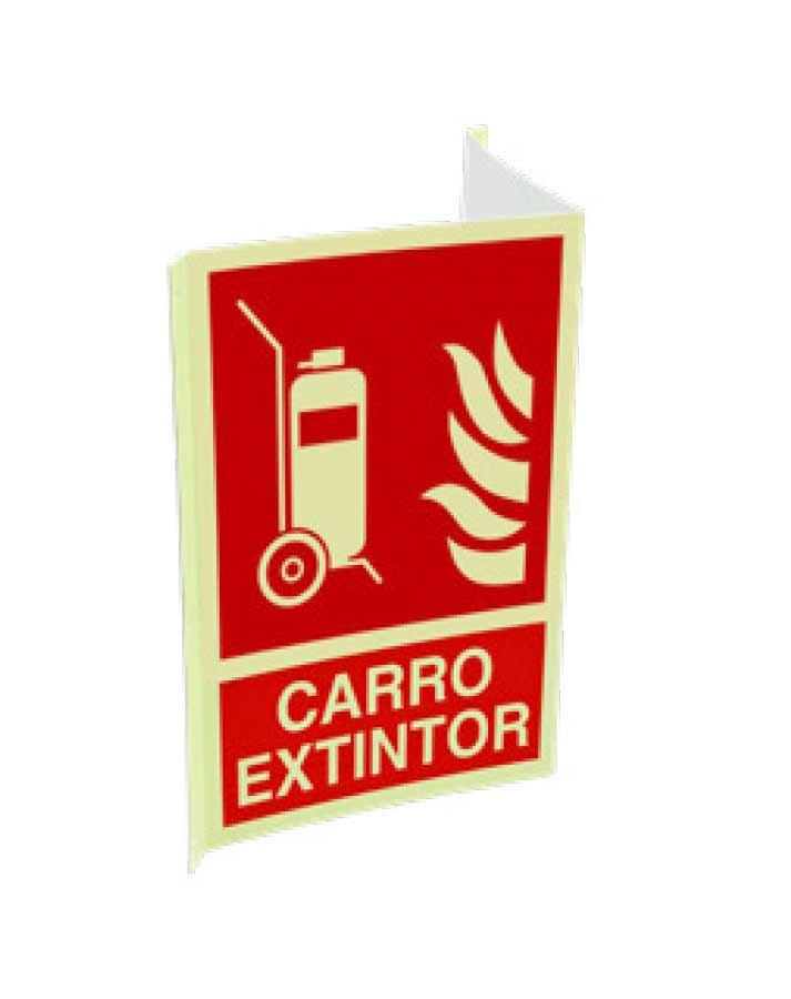 Cartel ISO DIN carro extintor