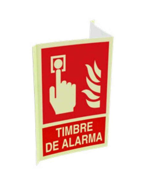 Cartel ISO DIN timbre de alarma