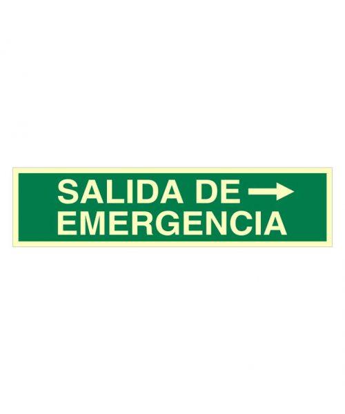 Salida de emergencia a la derecha