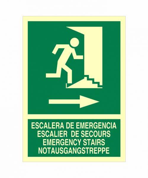 Señal ev71 es una señal que indica una dirección de evacuación