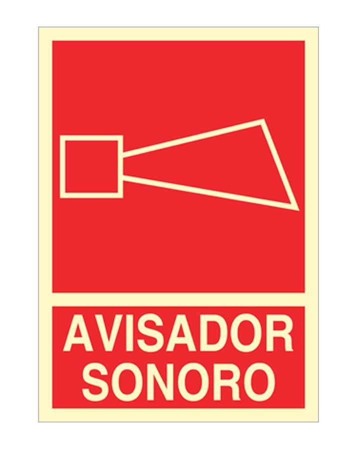 Avisador sonoro es una señal de socorro en tamaños DIN