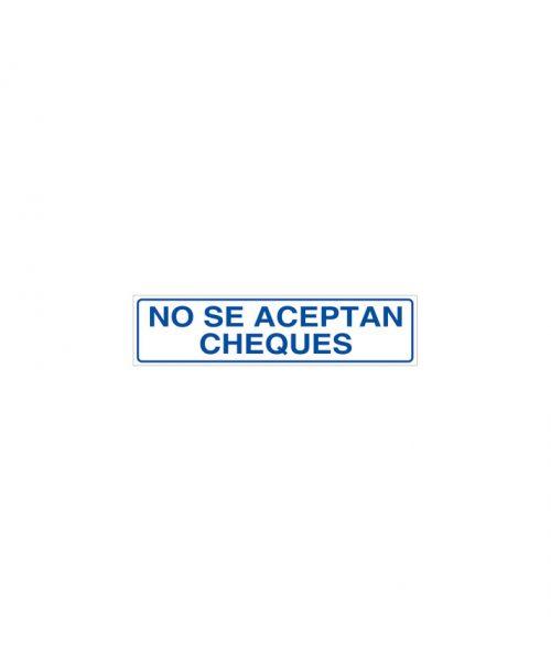 No se aceptan cheques cartel