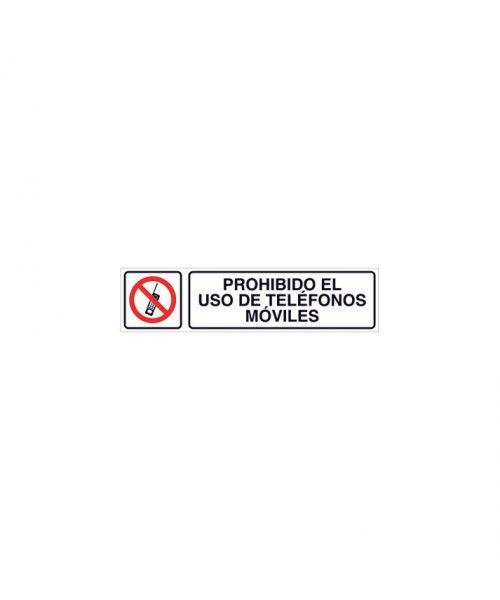 Prohibido el uso de teléfonos móviles cartel