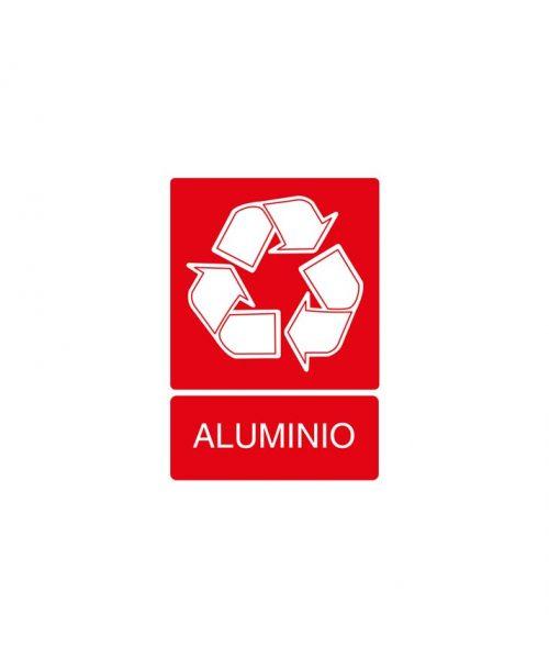 Señal de reciclaje de aluminio