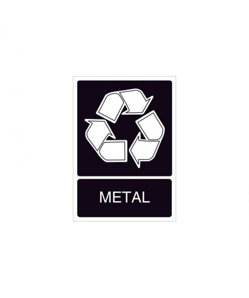 Señal de reciclaje de metal