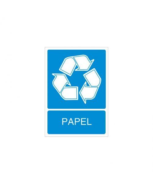 Señal de reciclaje de papel