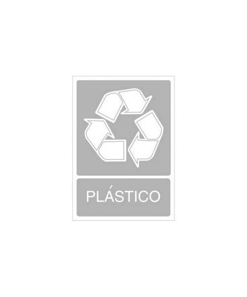 Señal de reciclaje de plástico