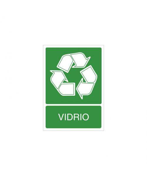 Señal de reciclaje de vidrio
