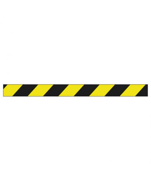 amarilla negra bobina cinta señalizamiento