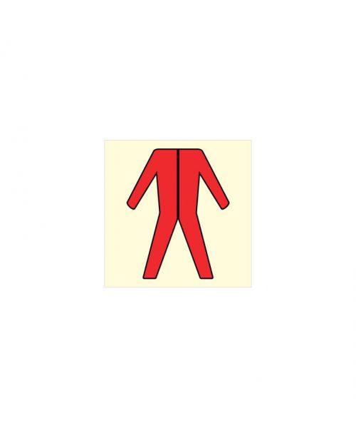 Armario con ropa protectora