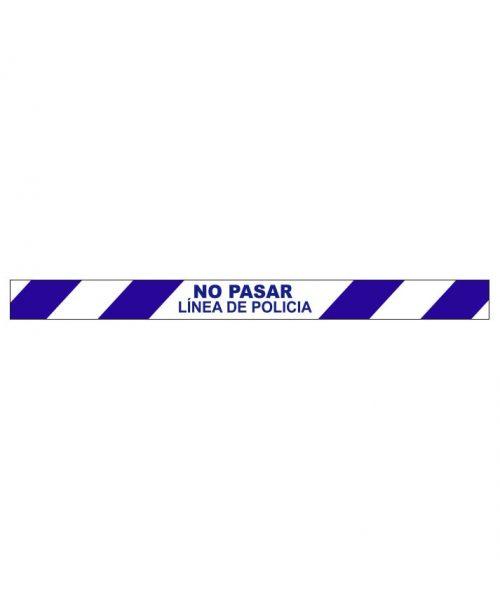 No pasar línea de policía