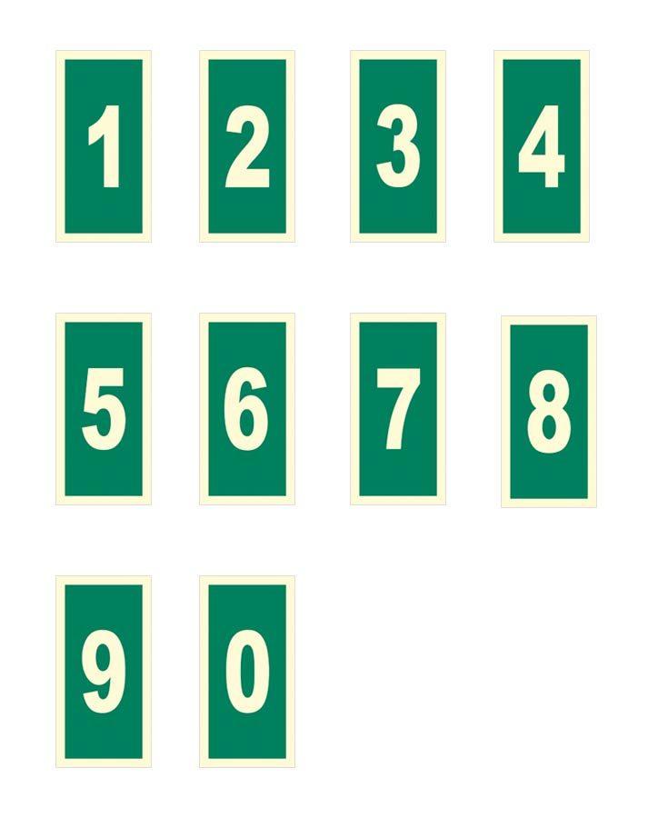 números carteles fluorescentes