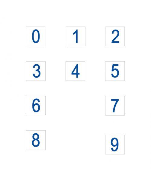 números carteles informativos