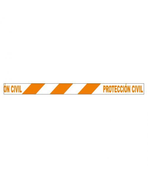 Protección civil cinta de baliza
