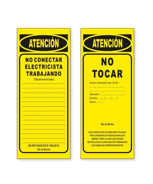 tarjeta de señalización T01