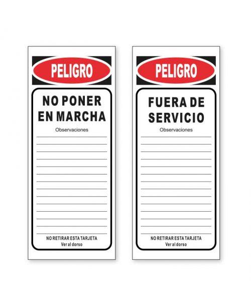 tarjeta de señalización T03