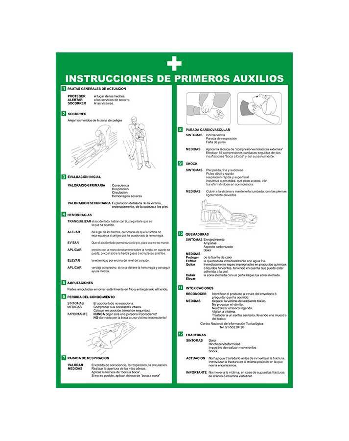 Instrucciones de primeros auxilios