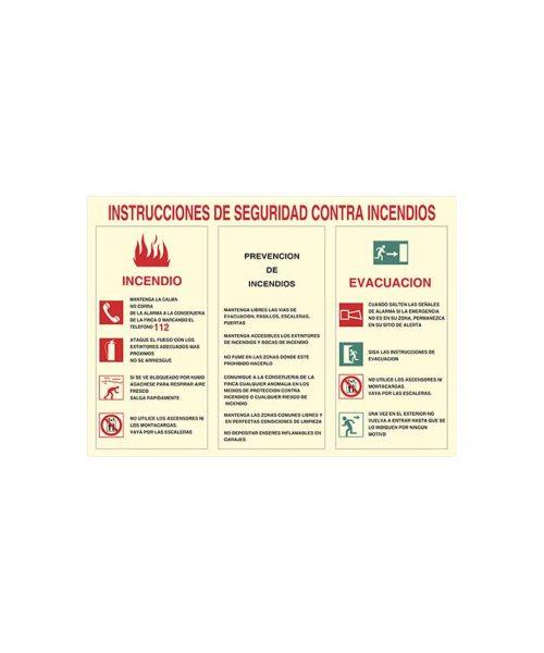 Instrucciones de seguridad contra incendios