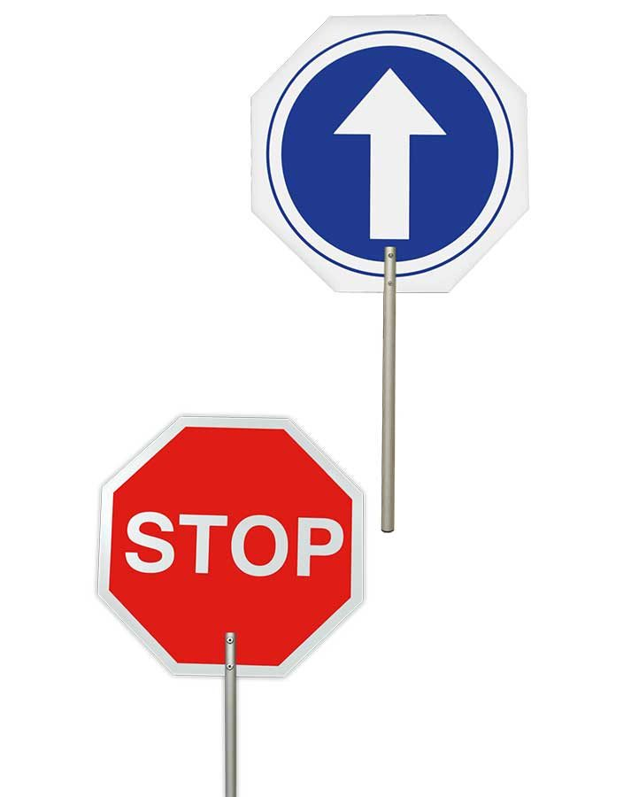 Paleta de stop-paso