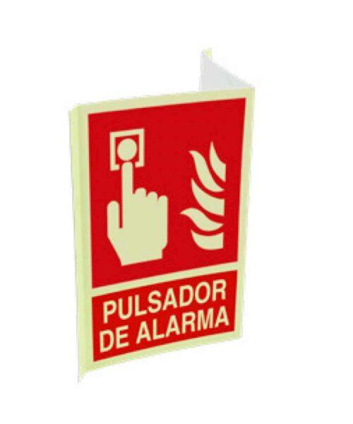 Cartel ISO DIN pulsador de alarma